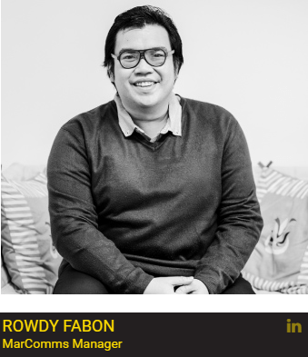 Rowdy Fabon is MarComms manager