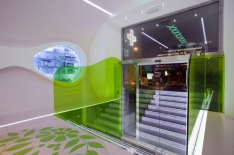 Futuristic Welcoming Pharmacy Designs with Simple Green Interior4