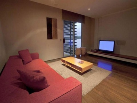 Plenty Wooden Beach House Designs Constructions with Comfy Living Room04
