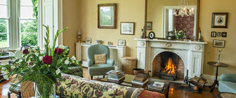 Gold sitting room Coolclogher House