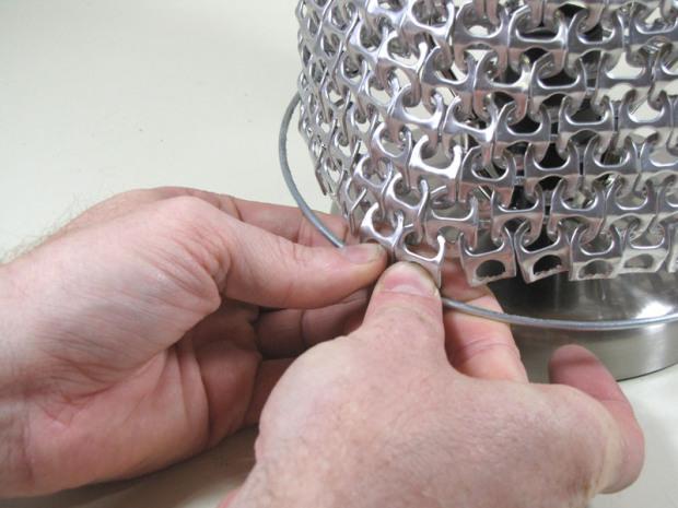 DIY Ring Pull Pop Can Lamp