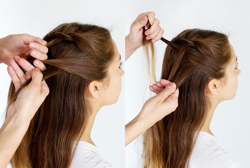 How To Weave A Double Waterfall Twist Hairstyle