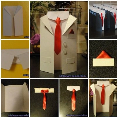 How To DIY Handmade Men Suit Invitation Cards