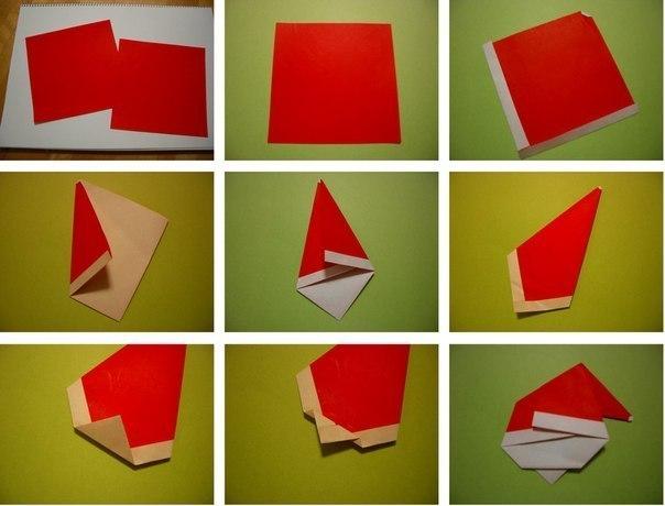 DIY Cute Origami Santa