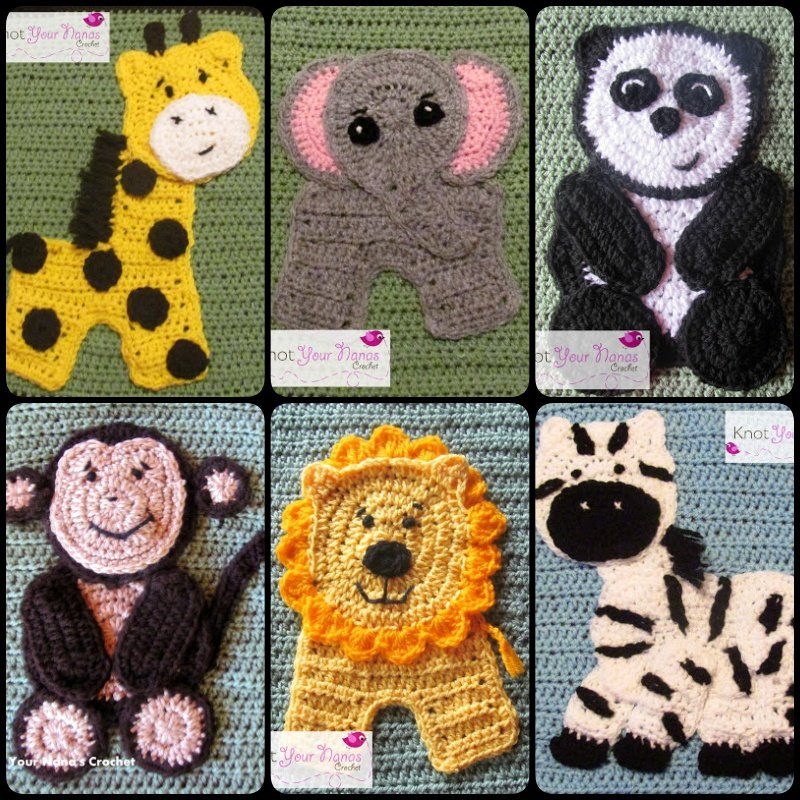 Applique Patterns Wildlife Crochet