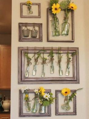 DIY Wall Decor with Old Picture Frames   Cool Creativities DIY Wall Decor with Old Picture Frames
