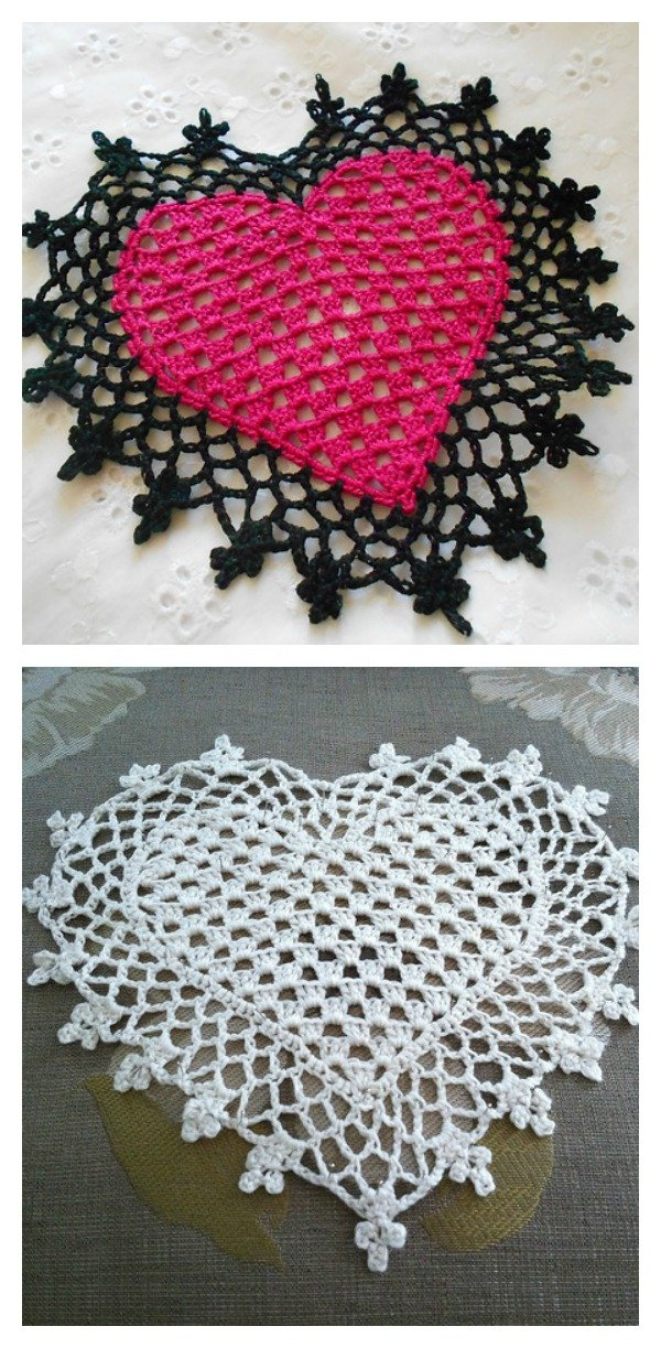 Lovely Crochet Heart Doilies Free Patterns Great For