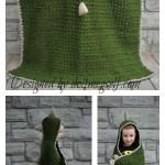 Hooded Dinosaur Blanket Free Crochet Pattern