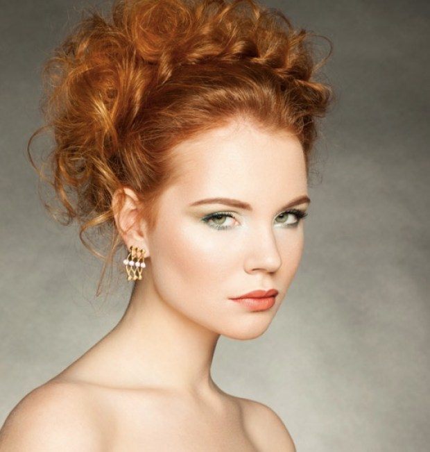 Portrait of women with elegance hairdo