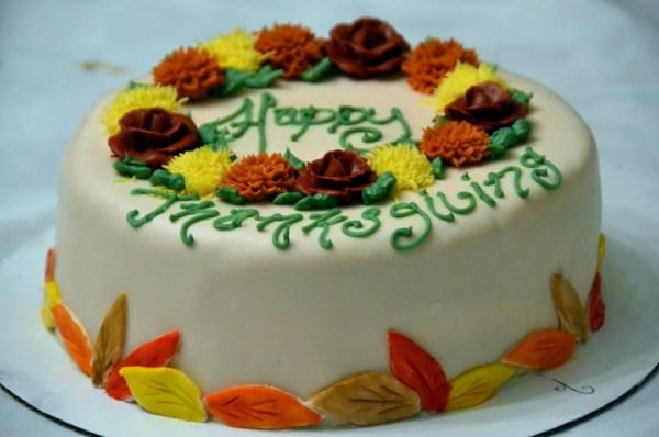 Floral Thanksgiving Cake
