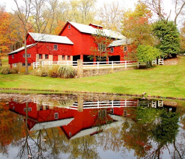 Reflection of a Red House