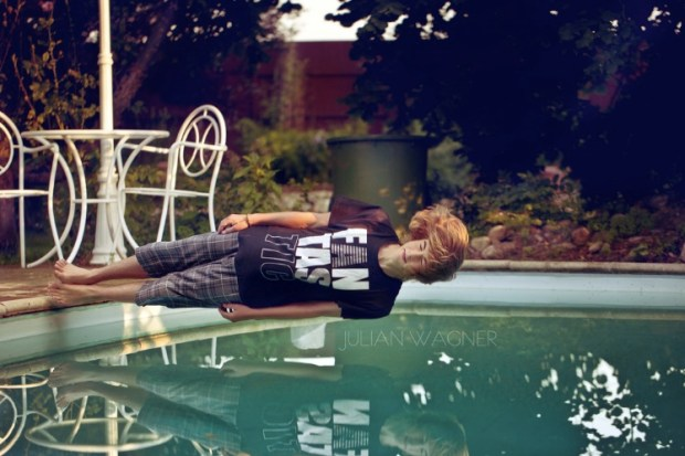 falling:jumping in the pool
