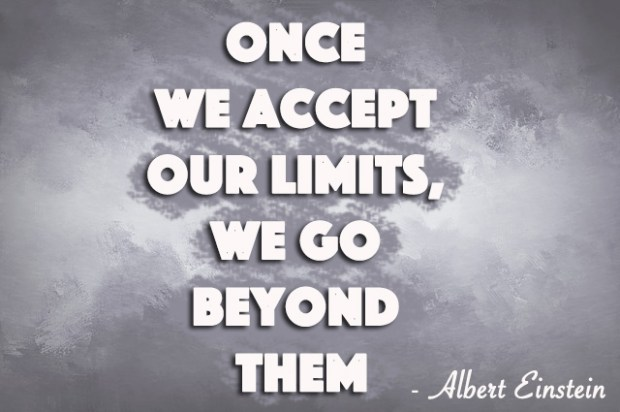 Once we accept our limits