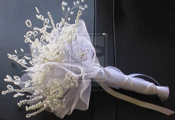 beaded wedding bouquet 2