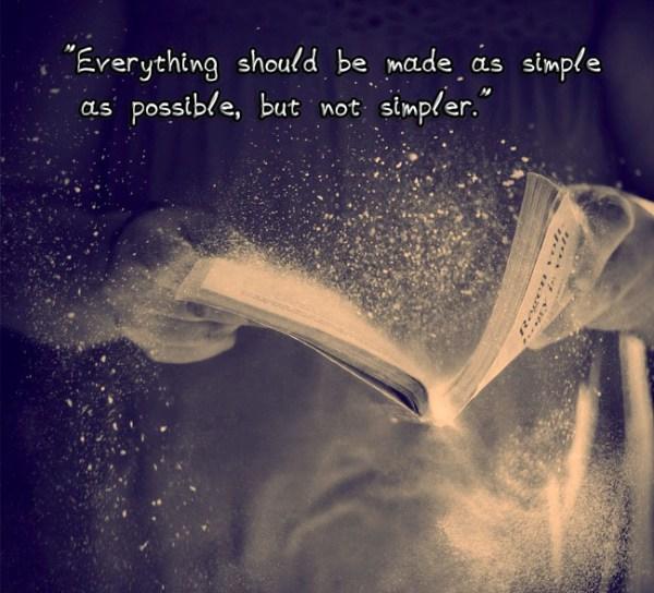 things simple