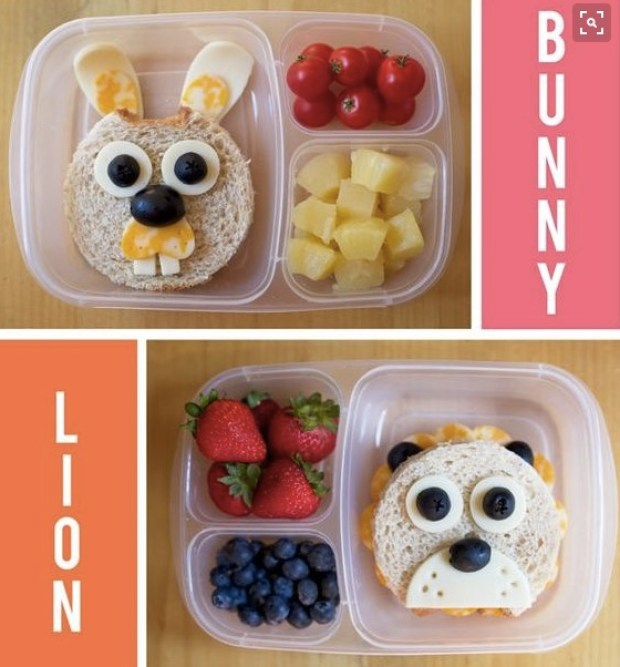 Bunny and Lion Lunch idea