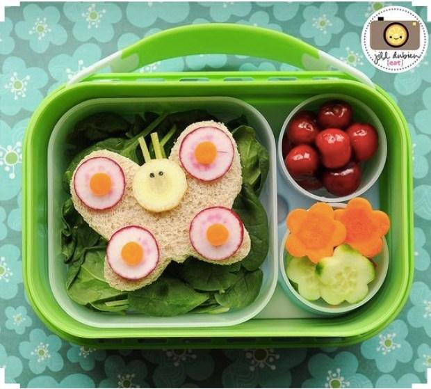 Butterfly Lunch box idea
