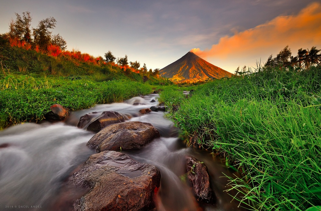 Mayon Volcano, Albay, in the Philippines