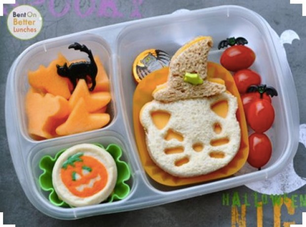 Witchy Kitty Halloween Lunch box