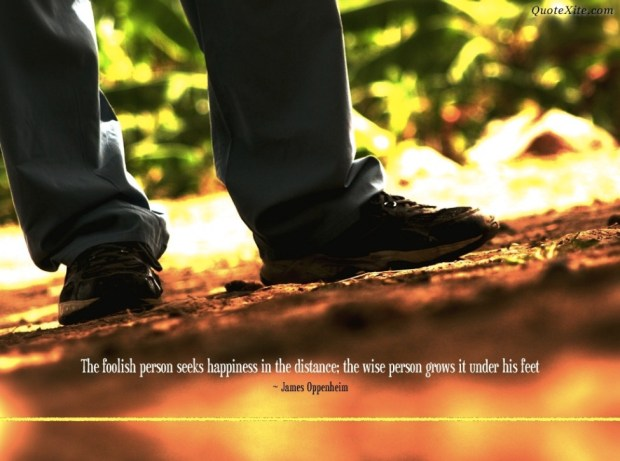 the foolish person seeks happiness in distance
