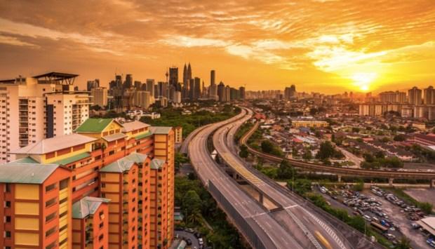 Warm Kuala Lumpur Sunset