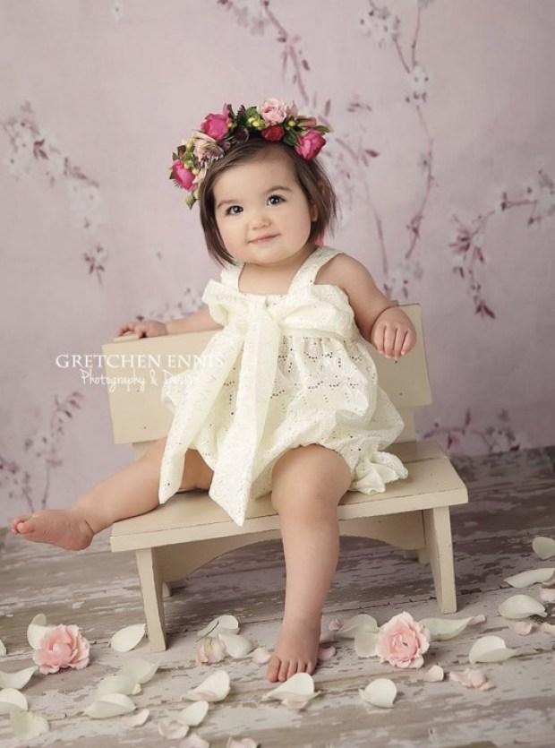 One year old flower child