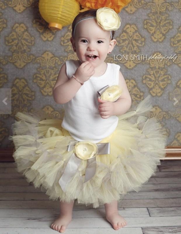 Baby girls Birthday Tutu Dress Outfit