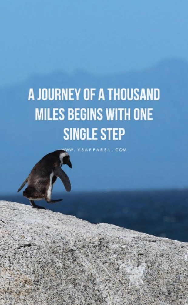 A journey of thousand miles. begins with one single step