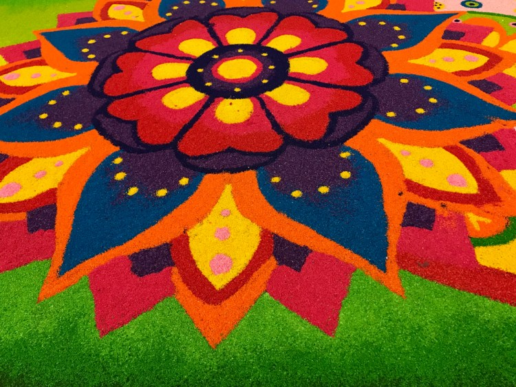 Rangoli is an art form in which patterns are created on the floor