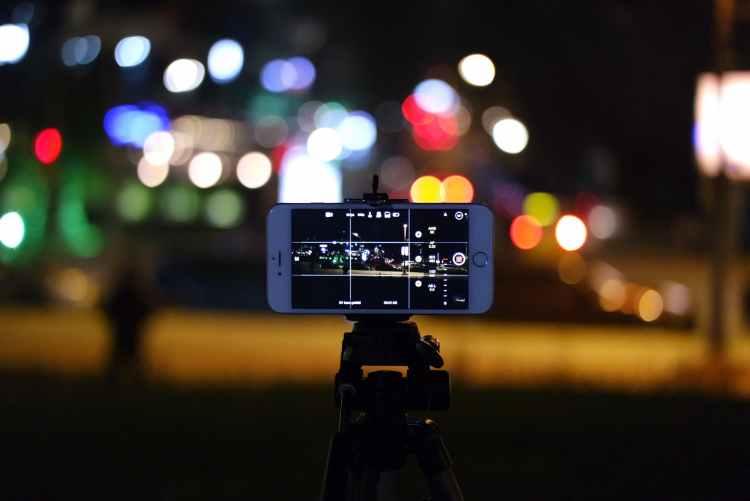 city lights night iphone