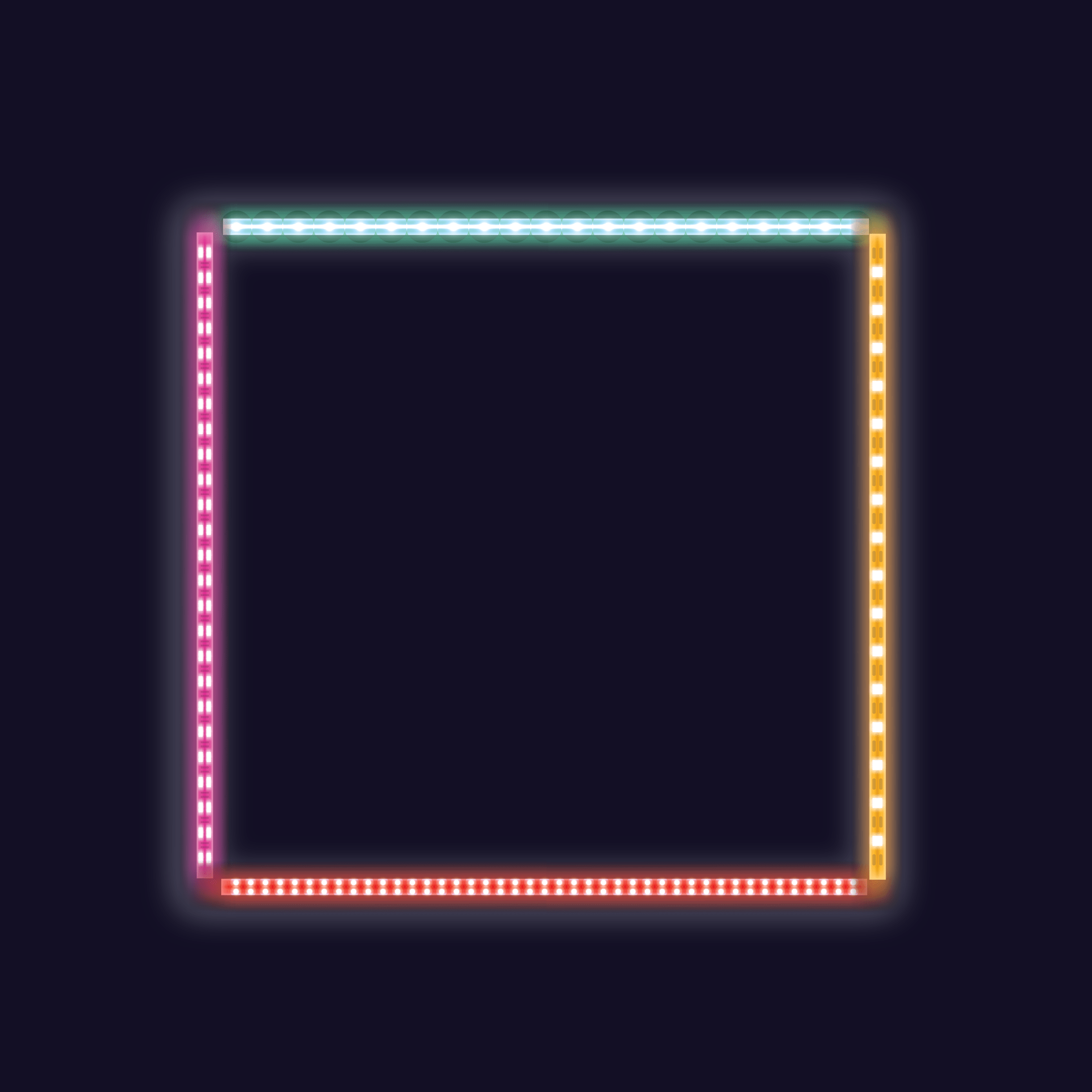 Background with glowing colored led light 2448 x 2448