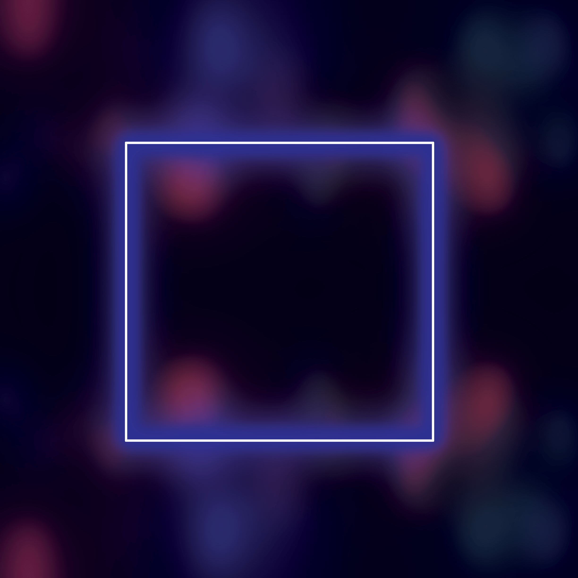 Background with glowing neon square 2448 x 2448
