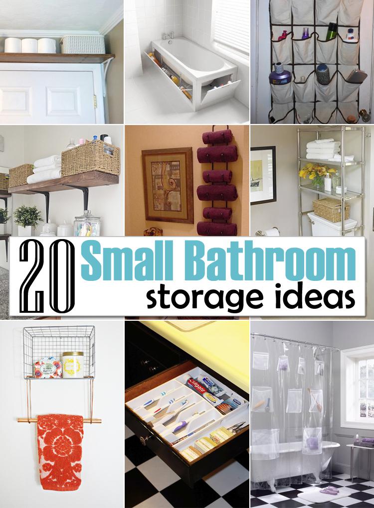Creative Storage Ideas Small Bathrooms