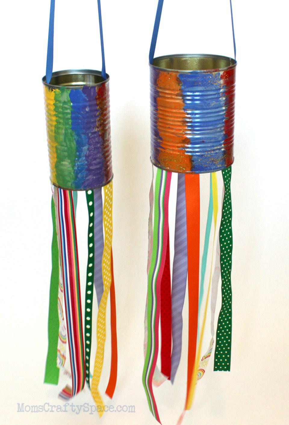 recycled tin can windsocks