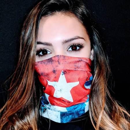 Cuba Flag Face