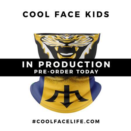Kids Size – Barbados Flag Face Bandana