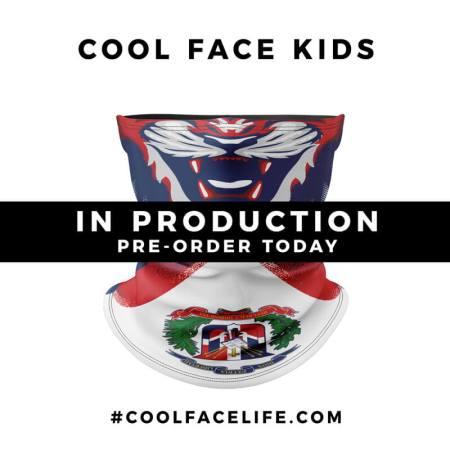 Kids Size – Dominican Republic Flag Face Bandana