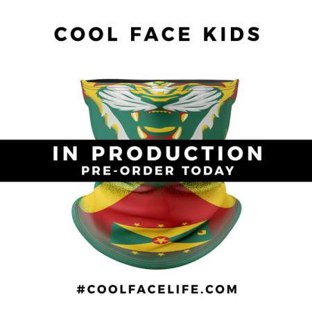 Kids Size – Grenada Flag Face Bandana