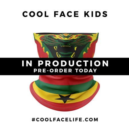 Kids Size – Ghana Flag Face Bandana