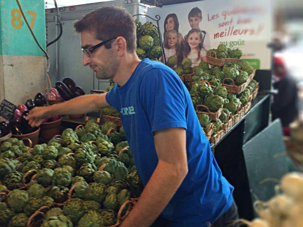 Jean Talon Market Montreal artichokes
