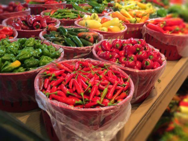 Jean Talon Market Montreal peppers