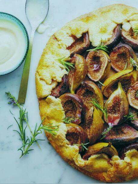 Fig Crostata with Rosemary Custard