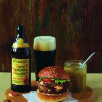 Grilled Burgers with Bacon-Onion Relish and Smoky Aïoli