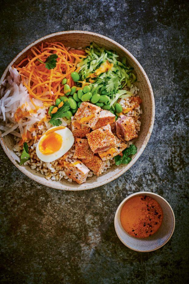 Tuna kokoro bowl, The Wagamama Cookbook, Photography by Howard Shooter