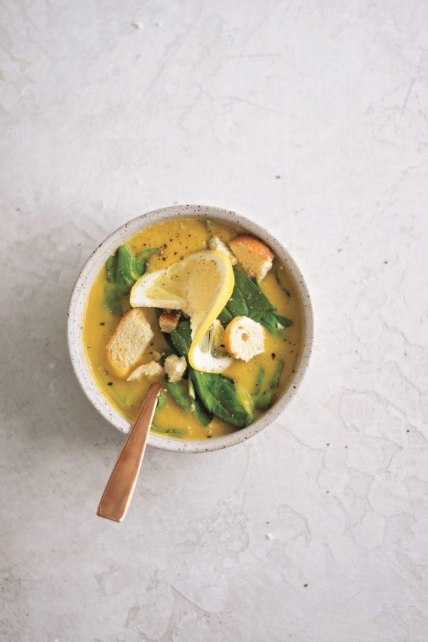 Lemon-Lentil Spinach Soup, The Big Book of Instant Pot Recipes, Photography by Stefanie Bundalo