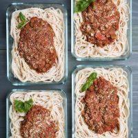Spaghetti Lentil Bolognese