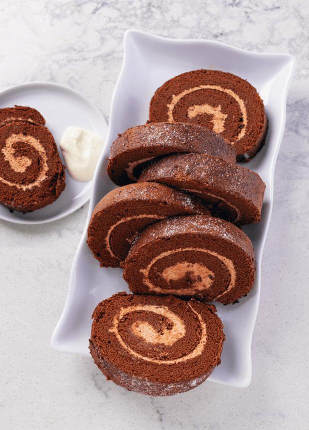 Chocolate Mocha Swiss Rolls