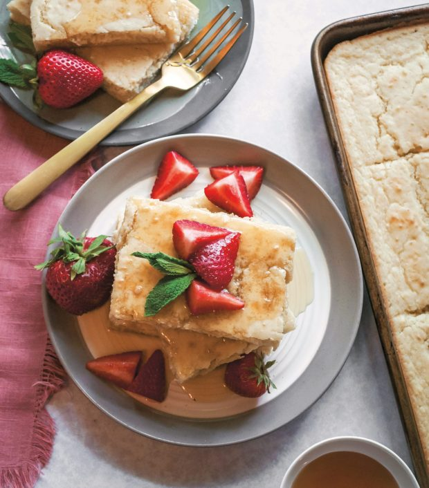 Crazy-Fluffy Buttermilk Sheet Pan Pancakes