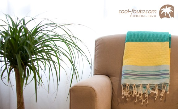 Fouta on the sofa by Miguel A. Álvarez