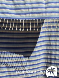 Tricolor Blue Marine - Alice Blue - White by Cool-Fouta